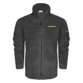 Columbia Full Zip Charcoal Fleece Jacket-Trojans