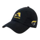 Black Twill Unstructured Low Profile Hat-A w/ Trojans