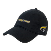 Black Twill Unstructured Low Profile Hat-Trojans