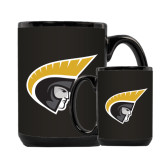 Full Color Black Mug 15oz-Trojan Head
