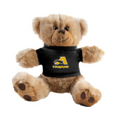 Plush Big Paw 8 1/2 inch Brown Bear w/Black Shirt-A w/ Trojans