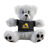Plush Big Paw 8 1/2 inch White Bear w/Black Shirt-A w/ Trojans