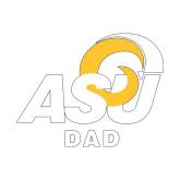Dad Decal-ASU Dad, 6 inches wide