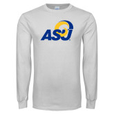 White Long Sleeve T Shirt-ASU Logo