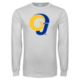 White Long Sleeve T Shirt-Ram Logo