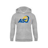 Youth Grey Fleece Hood-ASU