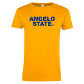 Ladies Gold T Shirt-Angelo State