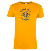 Ladies Gold T Shirt-Angelo State Ram