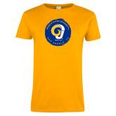 Ladies Gold T Shirt-Angelo State University Ram
