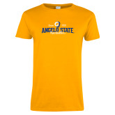 Ladies Gold T Shirt-Angelo State Since 1928