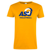 Ladies Gold T Shirt-ASU Volleyball
