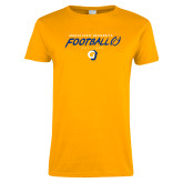 Ladies Gold T Shirt-Rams Football