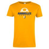 Ladies Gold T Shirt-Rambelles Soccer