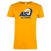 Ladies Gold T Shirt-ASU Alumni