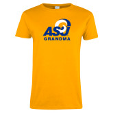 Ladies Gold T Shirt-ASU Grandma