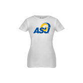 Youth Girls White Fashion Fit T Shirt-ASU