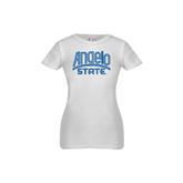 Youth Girls White Fashion Fit T Shirt-Angelo State