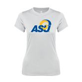 Ladies Syntrel Performance White Tee-ASU