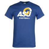 Royal T Shirt-ASU Football