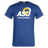 Royal T Shirt-ASU Volleyball
