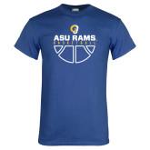 Royal T Shirt-Rams Basketball