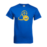 Royal T Shirt-Peace, Love and Volleyball Design