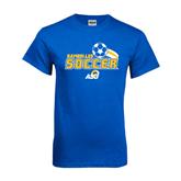 Royal T Shirt-Soccer Swoosh Design