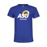 Youth Royal T Shirt-ASU Soccer