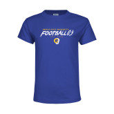 Youth Royal T Shirt-Rams Football