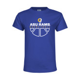 Youth Royal T Shirt-Rams Basketball