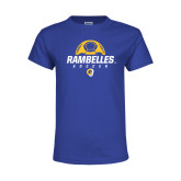 Youth Royal T Shirt-Rambelles Soccer