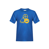 Youth Royal T Shirt-Peace, Love and Volleyball Design