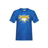 Youth Royal T Shirt-Softball Bats and Plate Design