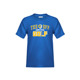 Youth Royal T Shirt-Tee Off Golf Design