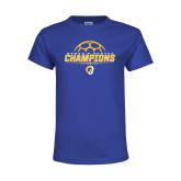 Youth Royal T Shirt-Womens Soccer Champions