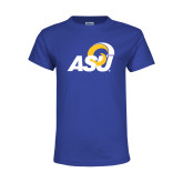Youth Royal T Shirt-ASU Logo