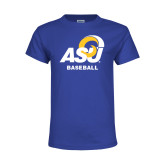 Youth Royal T Shirt-ASU Baseball