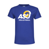 Youth Royal T Shirt-ASU Volleyball