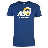 Ladies Royal T Shirt-ASU Baseball
