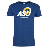 Ladies Royal T Shirt-ASU Soccer
