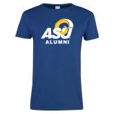 Ladies Royal T Shirt-ASU Alumni