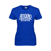 Ladies Royal T Shirt-Angelo State