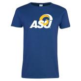 Ladies Royal T Shirt-ASU Logo