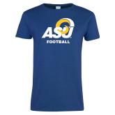 Ladies Royal T Shirt-ASU Football