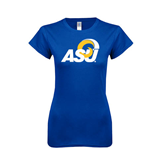 Next Level Ladies SoftStyle Junior Fitted Royal Tee-ASU