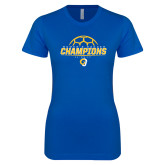 Next Level Ladies SoftStyle Junior Fitted Royal Tee-Womens Soccer Champions