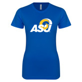 Next Level Ladies SoftStyle Junior Fitted Royal Tee-ASU Logo