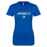 Next Level Ladies SoftStyle Junior Fitted Royal Tee-Rams Football