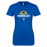 Next Level Ladies SoftStyle Junior Fitted Royal Tee-Rambelles Soccer