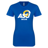 Next Level Ladies SoftStyle Junior Fitted Royal Tee-ASU Mom